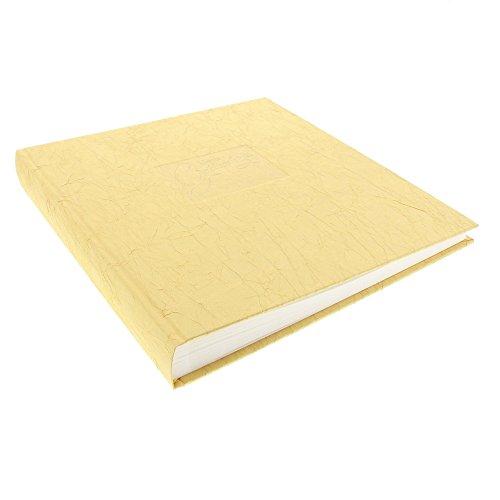 Goldbuch Goldhochzeitsalbum, Tsarina, 30 x 31 cm, 60 weiße Seiten mit Pergamin-Trennblättern, Gecrashter Stoff mit Goldprägung, Gold, 08641