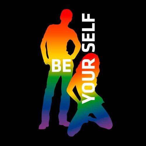 T-Shirt Rainbow Collection 15 - Be Yourself - Schwul - Paar - Damen Schwarz