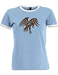 Camiseta contraste de mujer Praying Hawk by Shirtcity