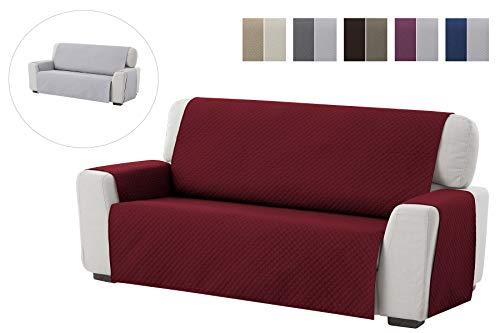 textil-home Salvadivano Trapuntato Copridivano Adele 3 posti Reversibile. Colore Rosso