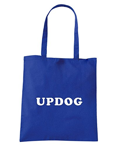T-Shirtshock - Borsa Shopping FUN0059 03 24 2013 Updog T SHIRT det Blu Royal