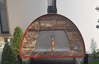 Maximus Red Arena (Rustic Stone Effect) Wood-Fired Bread, Meat, Pizza Fish Outdoor Oven Real Wood Real Flavor Escape The Indoors � Stand not Included
