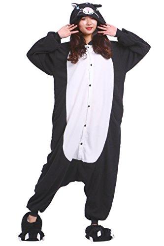 chsene Onesies Kigurumi Schwarz Katze Tier Pajama Größe M (Halloween Schwarze Katze Kigurumi)