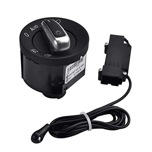 Preisvergleich Produktbild Auto Lichtschalter mit Chrom Auto Sensor Licht 5ND941431B für Golf 5 Tiguan Passat b6
