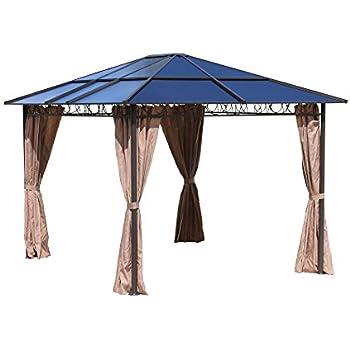 hardtop pavillon 3x3 6m mit seitenwand set k che haushalt. Black Bedroom Furniture Sets. Home Design Ideas