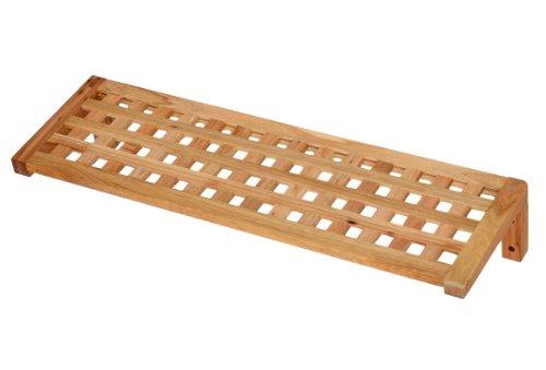 ts-ideen Regal Wandregal Board 63 cm Länge aus Walnuss Massivholz für Bad, Wohnzimmer, Sauna, Flur, Diele, Küche, Büro und Kinderzimmer