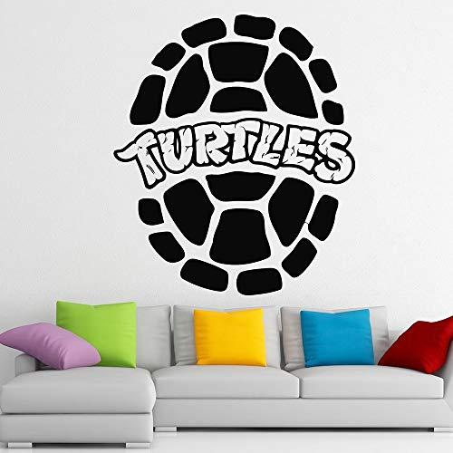 Benutzerdefinierte Turtles Wandaufkleber Tierliebhaber Dekoration Zubehör Wohnkultur Kinder Haus Wandaufkleber Tapete 43 * 49 cm Fleece-turtle