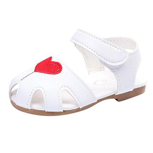 La Vogue Zapatos de Bebé PU Estrella Antideslizante para Primeros Pasos Blanco Talla 12 P8H3gErNrp