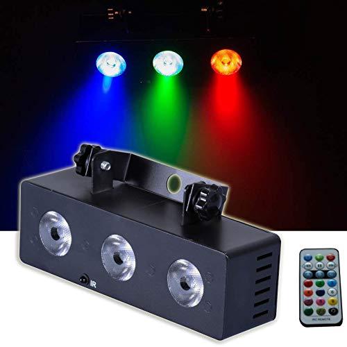 E-Lektron MS-3 Multi-Spot 3-fach LED Strahler R/G/B Musiktakt gesteuert Party Lichteffekt