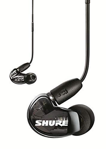 Shure SE215 In Ear Kopfhörer mit Sound Isolating Technologie, 3, 5-mm-Kabel, Fernbedienung und Mikrofon - Premium Ohrhörer mit warmem & detailreichem Klang - Schwarz thumbnail
