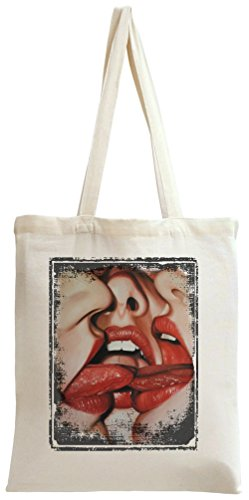 Girls Hot Red Lips Tote Bag -