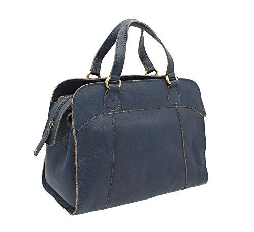 Pelle mala pelle HARPER Collezione Grab Bag / borsa a tracolla grigia 779_80 blu
