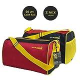 Mufubu Presents Get Unbarred Pack of 2 Red & Black Duffle Gym Bag