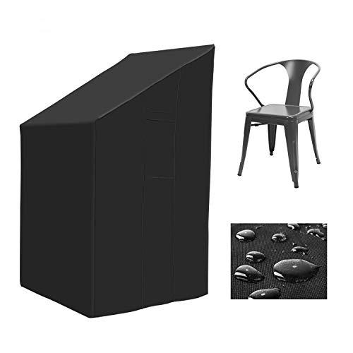 MVPower Gartenstühle Abdeckung Schutzhülle Abdeckhauben für Stühle Balkonstuhl Stapelstuhl Gartensessel 600D Oxford + PVC 66x66x80/120cm