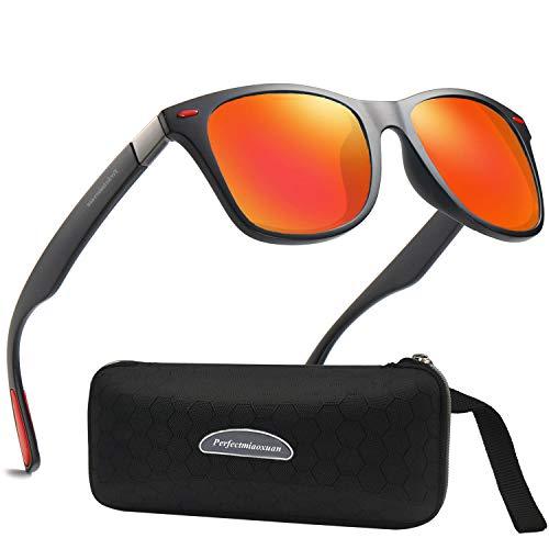 Perfectmiaoxuan Occhiali da Sole polarizzati Uomo Donna Lusso retrò/Super Leggero per Lo Sci Golf Corsa Ciclismo Sport Allaperto per Gli Occhiali da