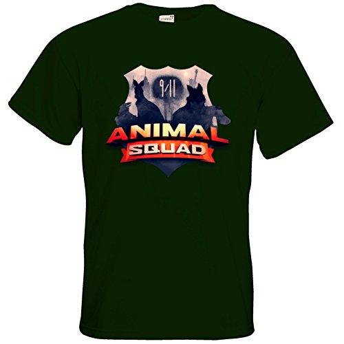getshirts - Rocket Beans TV Official Merchandising - T-Shirt - Pen & Paper - Animal Squad Logo Bottle Green