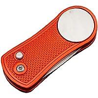 Pelota de Golf Plegable Poner Tenedor portátil metálica Duradera Campo de Entrenamiento de Tepes de césped Pelota de Golf Putting Tenedor 1pcss Rojo