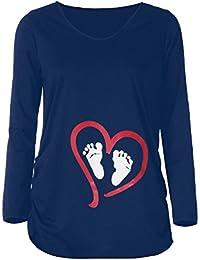 Humour Mignon b/éb/é furtivement T-Shirt /à Manches Longues de Femmes Enceintes Keephen T-Shirt dr/ôle de maternit/é