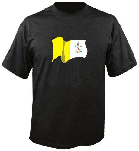 T-Shirt für Fußball LS194 Ländershirt mehrfarbig Vatican - Vatikan Fahne freie Farbwahl