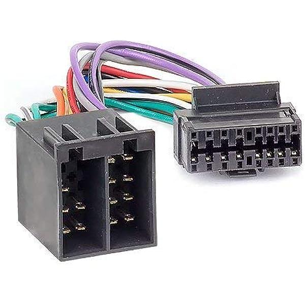 Audioproject A107 Autoradio Adapter Stecker Kompatibel Zu Sony 16 Pin Anschluss Kabel 30 X 12 Mm