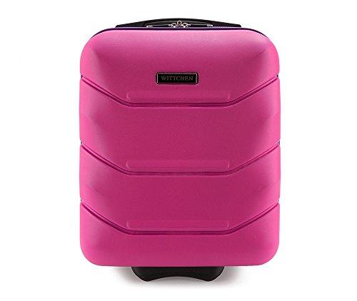 WITTCHEN Trolley Bagaglio a mano - Valigia rigida | Colore: Rosa | Materiale: ABS | Dimensioni: 25x42x32 | Peso: 2 kg | Capacità: 25 L | 2 ruote - 56-3A-281-60