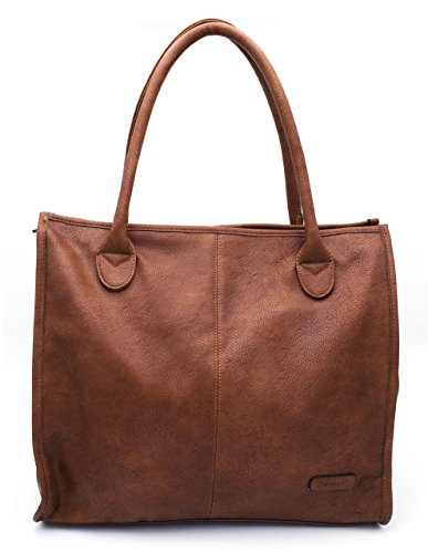 Gallantry , Damen Tote-Tasche Braun camel (Tote Tasche Prada Leder)
