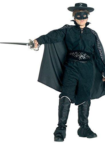r Banditenkostüm Kinderräuberkostüm, Größe:128 (Lady Zorro-kostüm)
