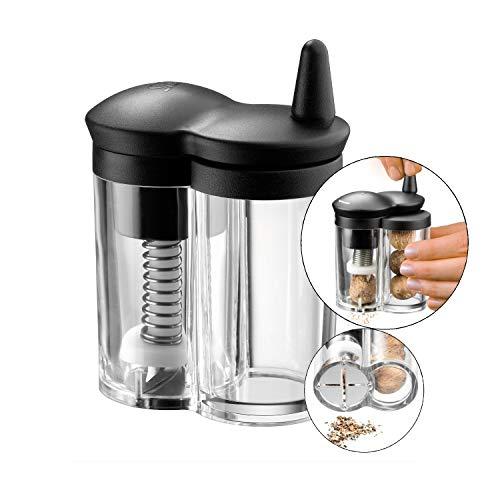 Silit Mulino Muskatmühle mit Reservebehälter, Glas, Kunststoff, Muskatreibe, Muskatnussmühle