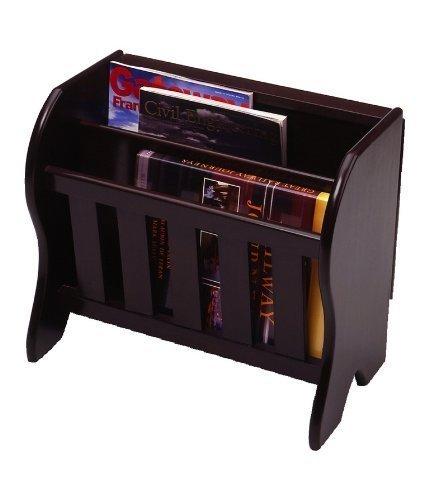 Magazine Rack with Folding Tabletop (Espresso) (14.2