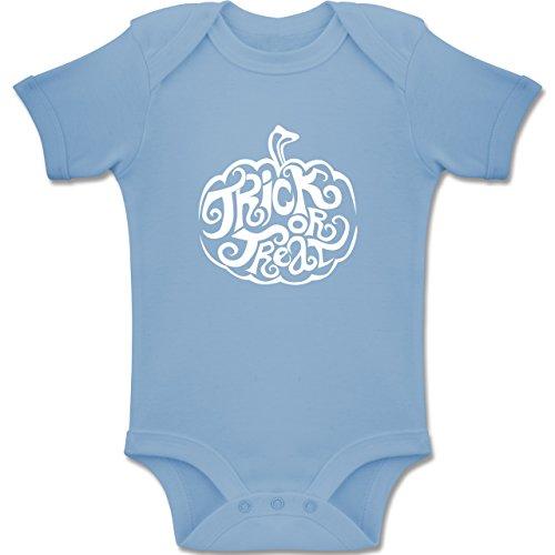 Shirtracer Anlässe Baby - Trick or Treat - 3-6 Monate - Babyblau - BZ10 - Baby Body Kurzarm Jungen Mädchen