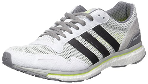adidas Adizero Adios 3, Chaussures de Running Entrainement Homme Blanc (Footwear White/Trace Grey Metallic/Solar Yellow)