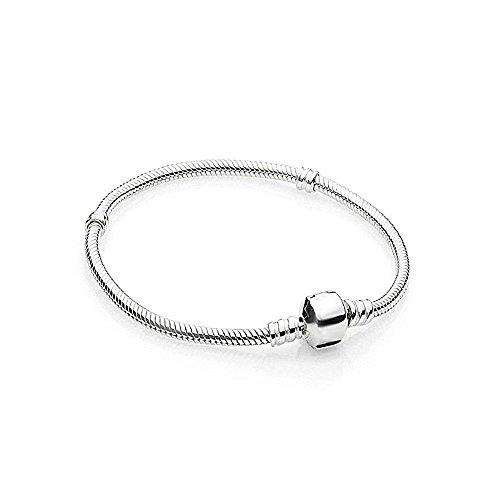 AKKi jewelry Beads Armband Edelstahl Perle bettel Charms Bead Silber Original Strass Pand NEU (Armband 17cm) (Pandora Charm Armband Perlen)
