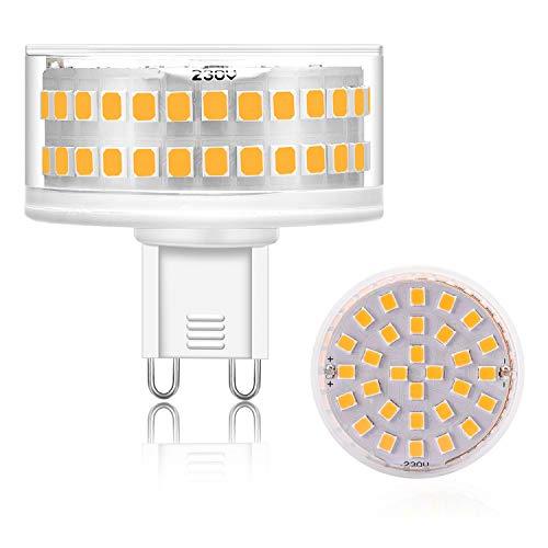 Eco.Luma G9 LED Dimmbar Leuchtmittel, Warmweiß 3000K, 7W Ersatz 40W 50W 60W 70W Halogenlampe, G9 Birne Sockel 760LM Kein Flackern, AC 220-240V, 1er Pack -