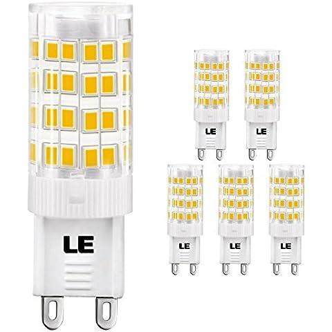 LE Bombillas LED G9 5W ~ 50W Halógena Blanco cálido 340lm 360° Pack de 5