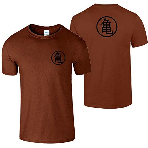 Goku Ausbildung Symbol Herren T Shirt Drachen Ball Meister Kastanie / Schwarz  Design