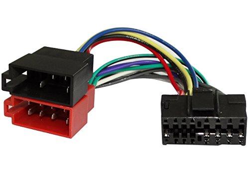Aerzetix - Adaptateur ISO câble convertisseur fiche faisceau auto autoradio pour JVC - C1933 - Coloris Aléatoire