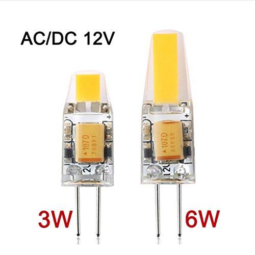 Janecrafts 1 Stück 1505 Dimmbar 6W G4 LED AC/DC 12V COB Licht LED Birne Lampe Coolwhite 6000K