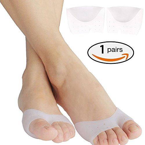 1 Paar Ball Of Foot Kissen Metatarsale Pads Schmerzlinderung. Silikon-Gel-Füße Stützauflage für Mortons Neurom, Plantar Fasciitis & Metatarsalgia sofortige Schmerzlinderung. Tragbare Ballettschuhe. (Halbe Zehe)