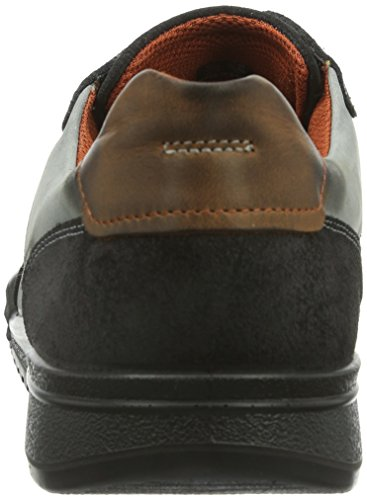 Ecco Fraser, Baskets mode homme Gris (Moonless/Moonless/Cognac 58736)