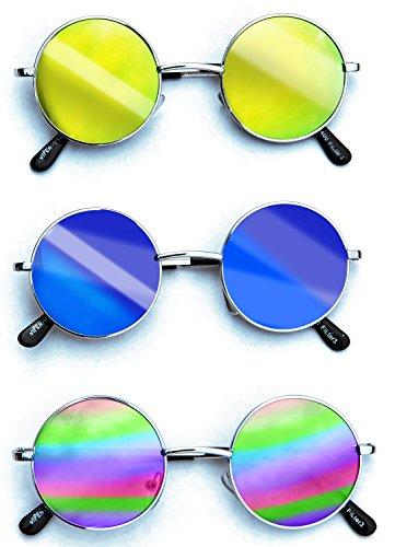 Party-Brille Nickelbrille Nerd-Brille Geek-Brille Sonnenbrille viele Farben sortiert - Hippie