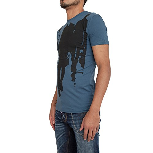 ANTONY MORATO - Herren t-shirt mit print black carpet mmks01034/fa120001 Petroleum blau