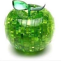 PicknBuy® Apple di cristallo 3D Puzzle Jigsaw IQ giocattolo modello decorazione (verde)