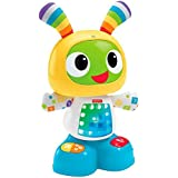 Fisher-Price - Robot interactivo Robi, color azul y amarillo (Mattel CGV50)