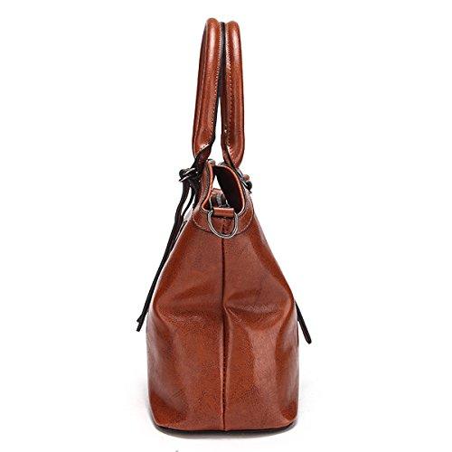 Frau Einfach Mode Schulter Diagonale tragbar Tasche Handtasche Rot
