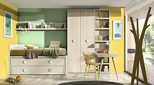 ambiato Jugendzimmer Vita 24 Bett mit Gästebett, Platz für viel Stauraum,Regalelement,Wandregal,Farben frei wählbar ohne Aufpreis