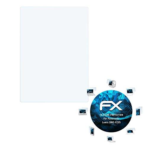 atFoliX Schutzfolie kompatibel mit Panasonic Lumix DMC-FZ35 Folie, ultraklare FX Displayschutzfolie (3X) - Fz35 Lumix Panasonic