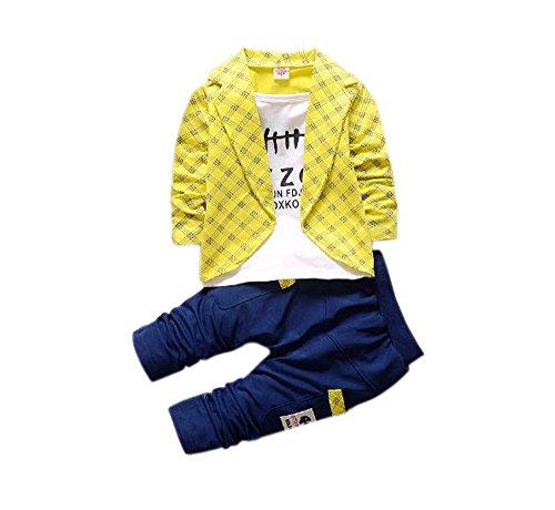 Funky Boys Blazer set-Yellow