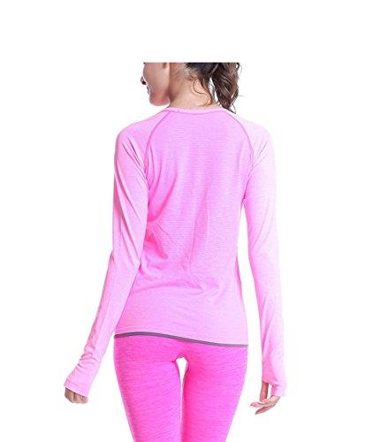 qutool Pantalon de sport pour femme yoga Entraînement Legging pour femme course à pied Pantalon pour homme Rose - Rose