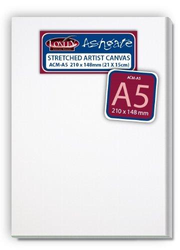 Loxley Ashgate Künstlerleinwand, FormatA5, 18mm tief, Weiß