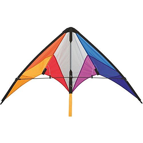Invento 112322 - Calypso II Rainbow, Lenkdrachen, Ab 8 Jahren, 59 x 110 cm Ripstop-Nylon 2-5 Beaufort